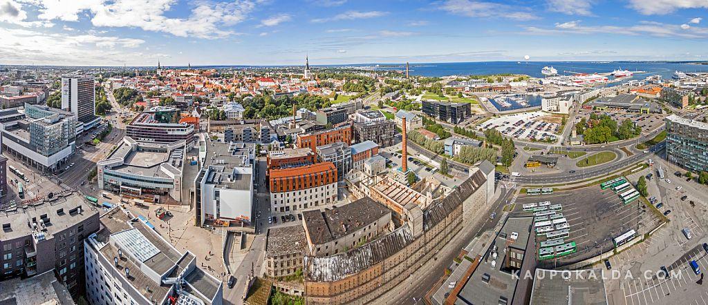 Rotermanni kvartal, vanalinn ja sadam / aeropanoraam