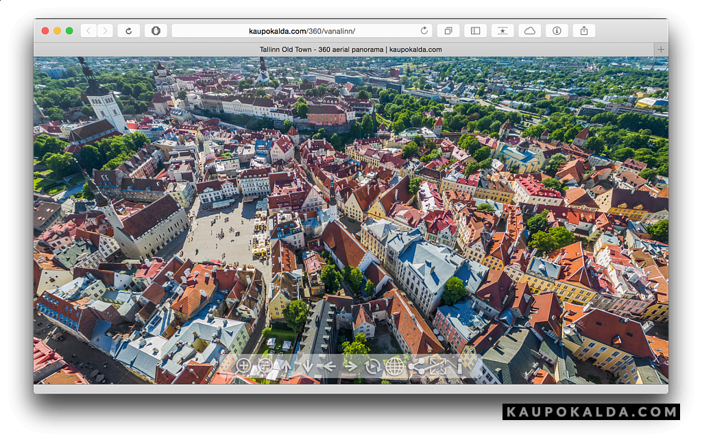 Interaktiivne 360-kraadine Tallinna vanalinna panoraam