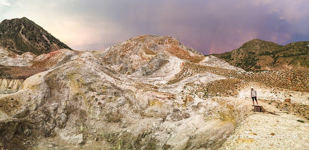 Vulkaan Kreekas Nisyrose saarel