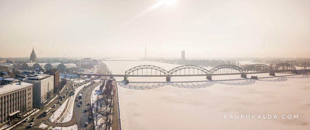Talvehommik Daugaval, Riias